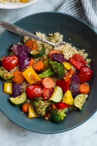 roasted/cooked veggies