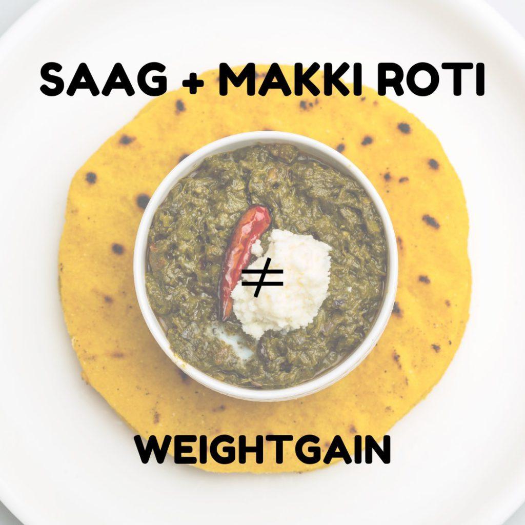 Sarson ka Saag during your weight loss journey?