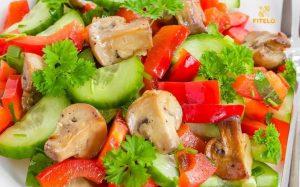 Parsley Mushroom Salad recipe
