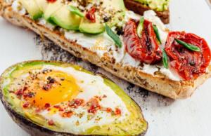 Avocado Bruschetta with a sunny-side-up recipe