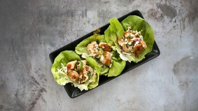 Lettuce chicken roll recipe