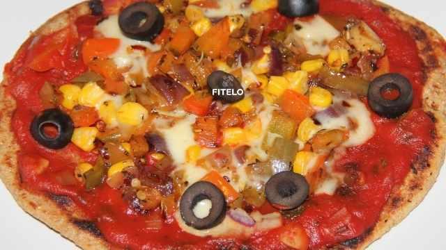 Wheat Bran Crust Pizza recipe