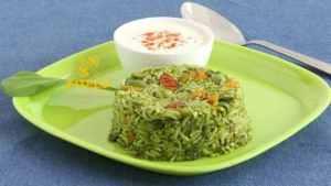 Spinach Pulao recipe