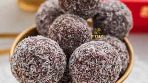 Chocolate Coconut Ladoo Recipe
