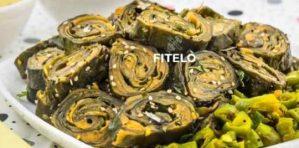 Colocasia leaves roll / Patrode recipe