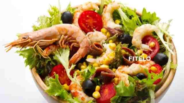 Spicy Grilled Prawns salad recipe