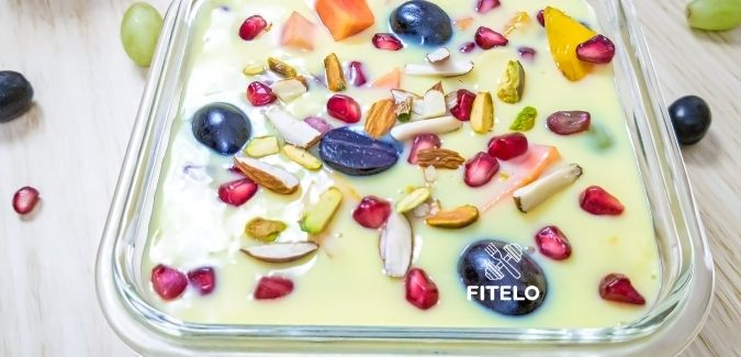 Vegan fruit custard recipe